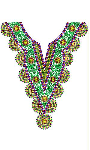 Nepal Clothing | Embroidery Neck Design