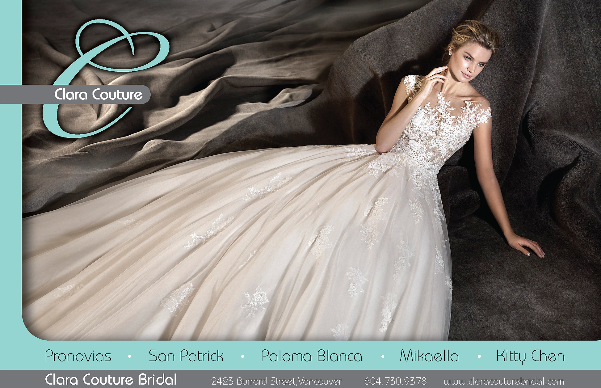 Clara Couture Bridal Gowns Vancouver BC