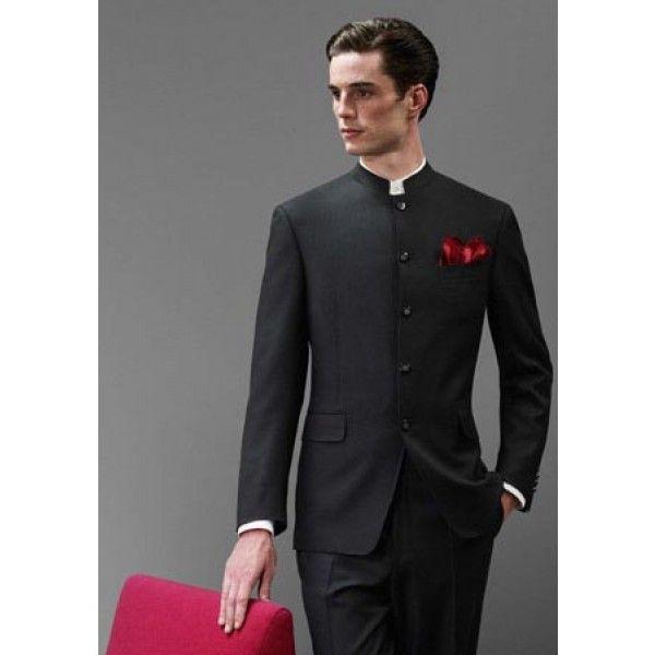 Nehru style coat pent dress