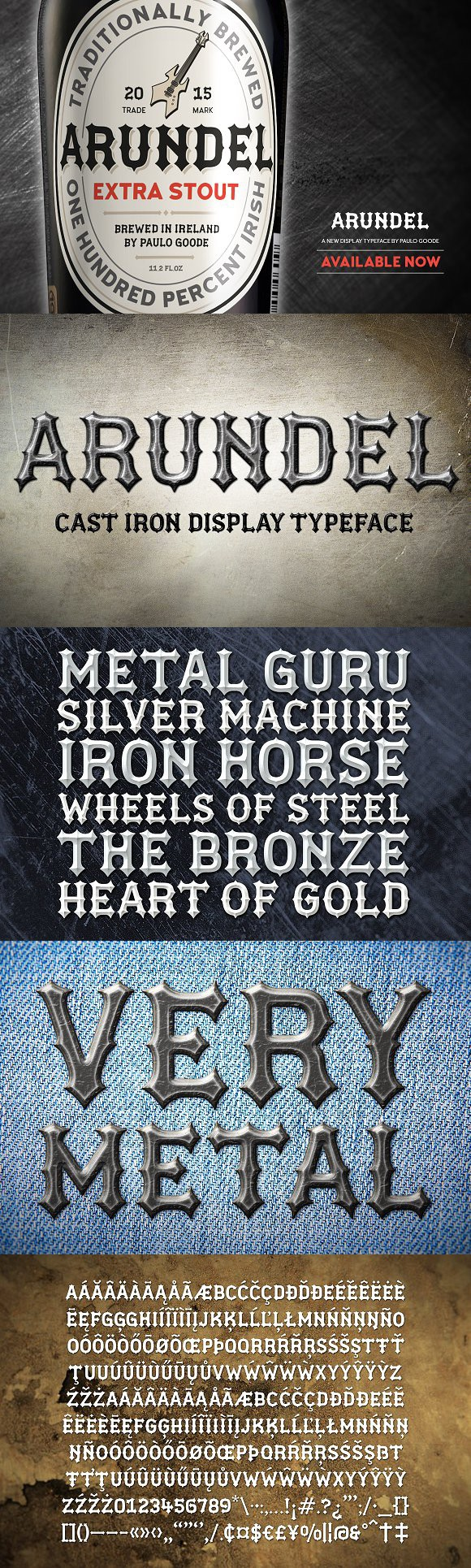 Download ArundelHeavy Metal Blackletter Font. Blackletter Fonts ...