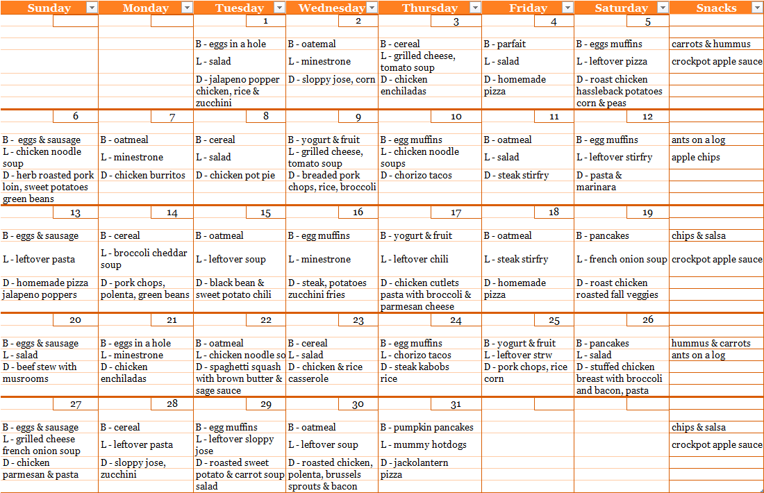 Breakfast Lunch Dinner Meal Plan In 2020 Family Meal Planning Budget Meal Planning Meal Planning