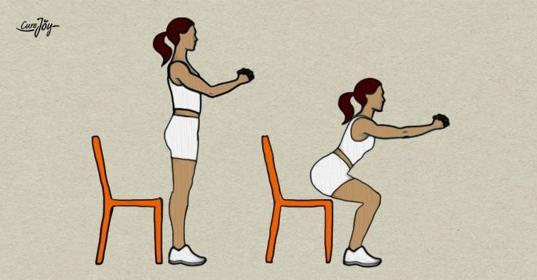 Chair Squats Bodyweight Workout Weights Workout Body Weight Squat