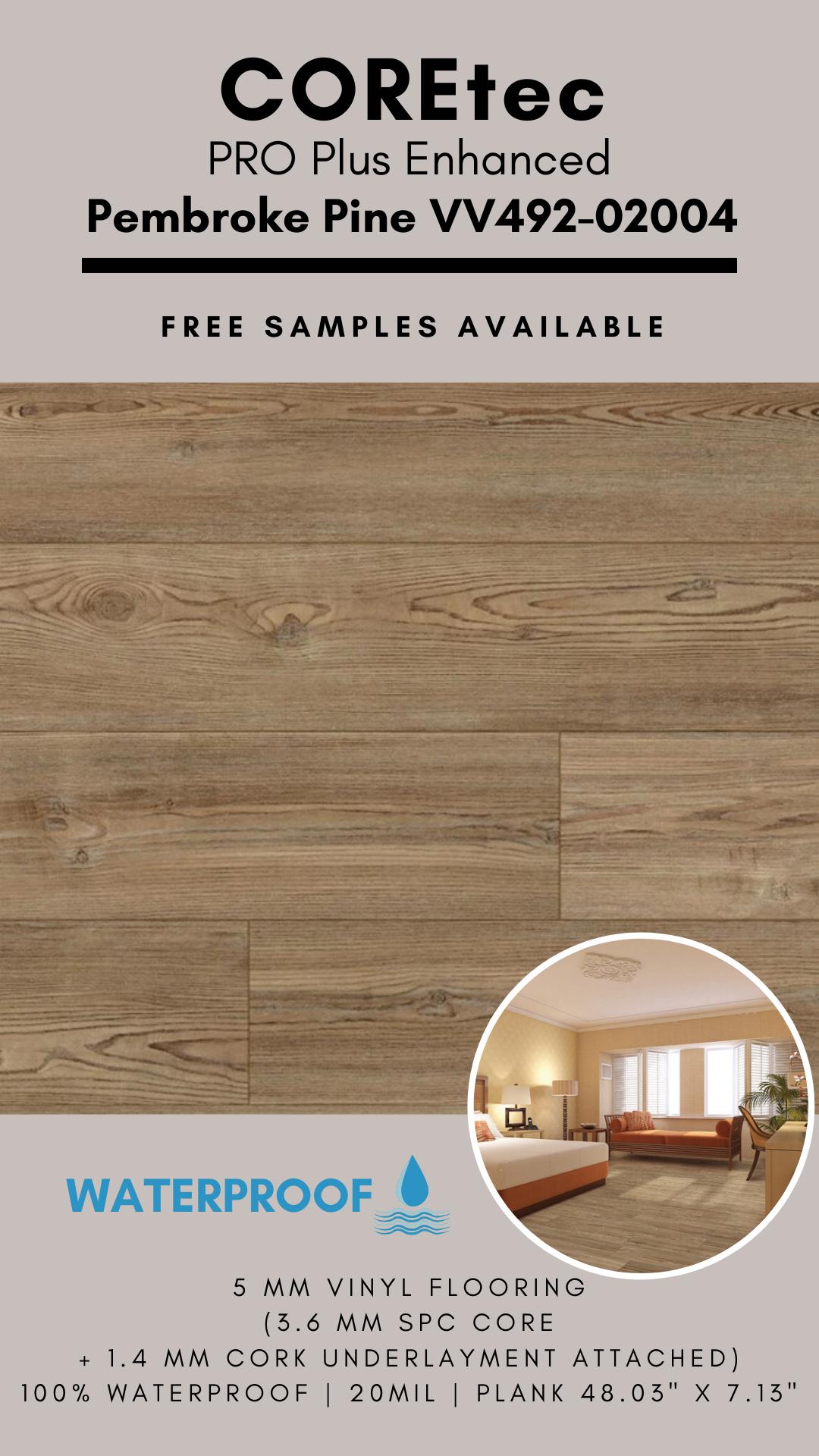 Coretec Pro Plus Enhanced Pembroke Pine Vinyl Flooring In 2020 Vinyl Flooring Flooring Pembroke