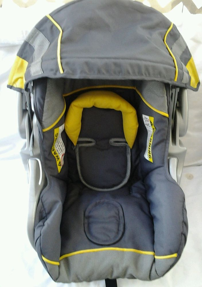 Baby Trend Flex Loc Infant Car Seat Cover Cushion Yellow Gray With