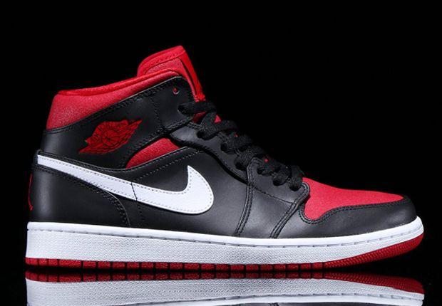newest e6cc9 26b63 Air Jordan 1 Mid – Black – Gym Red – White | My Kinda Style ...