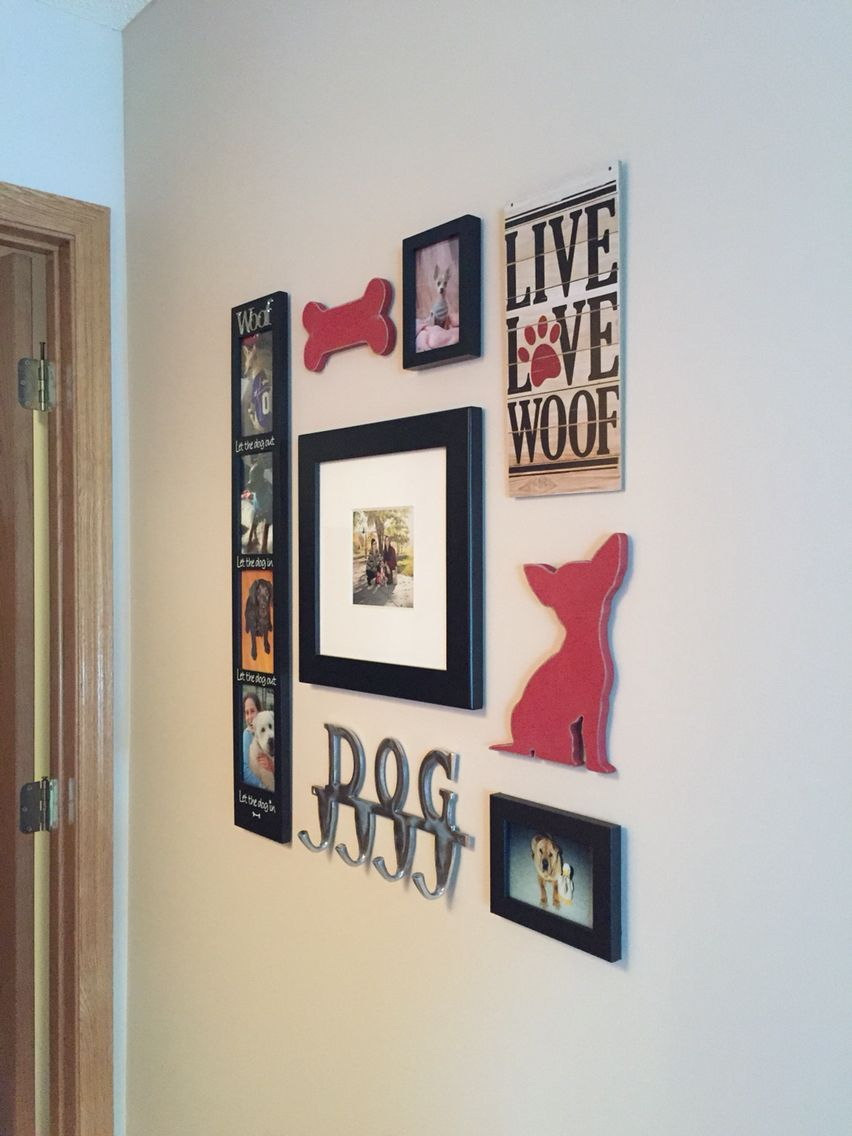 Small dog wall collage doghomeboarding Dog wall decor