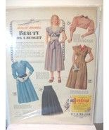 Vintage A  Quadringa cloth cut-out Ad with pape... - $8.99