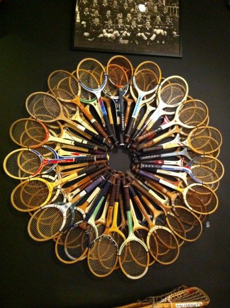 Quirky racquet decor! WOW!