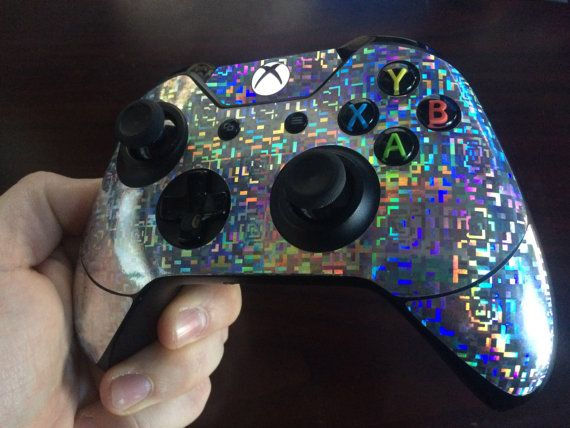 Holographic Xbox One Controller Skin Etsy Xbox One Video Games Xbox One Controller Xbox One Skin