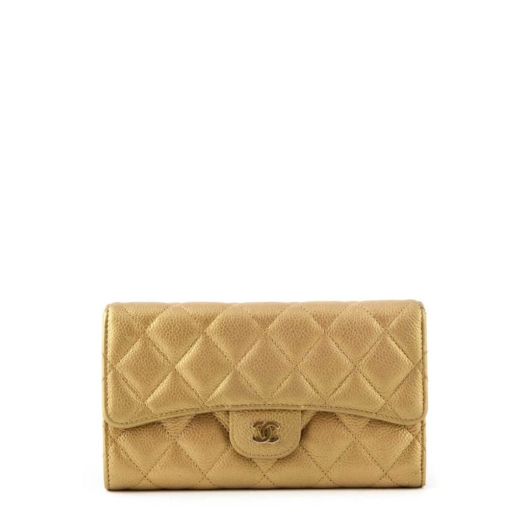 563bc0fd1ae55 Chanel Gold Caviar Continental Flap Wallet - LOVE that BAG - Preowned  Authentic Designer Handbags