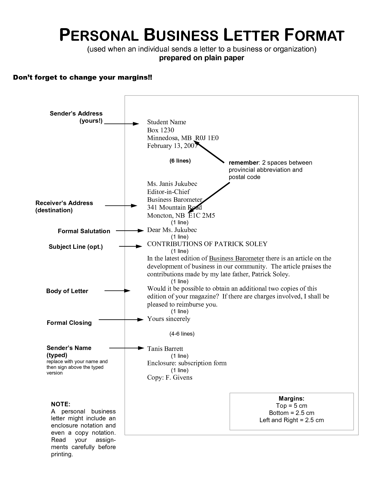 Docstoc Comblock Format Business Letter Return Address Line