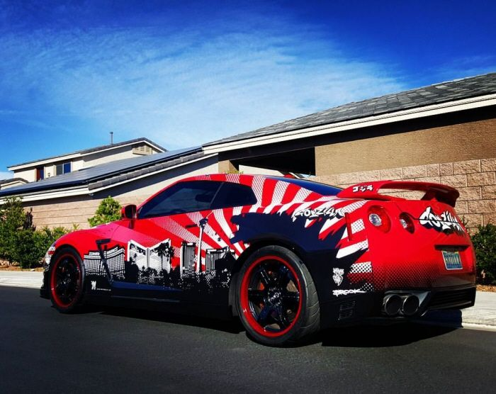 Godzilla Vs Las Vegas   Vinyl Car Wrap Design By Brook Middlecott Banham Atu2026