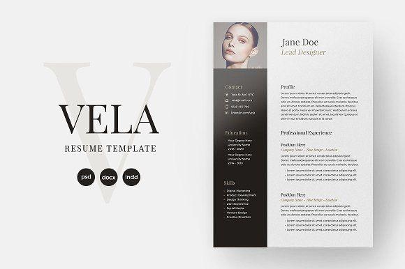 Vela Resume Template by SlideStation on @mywpthemes_xyz Best