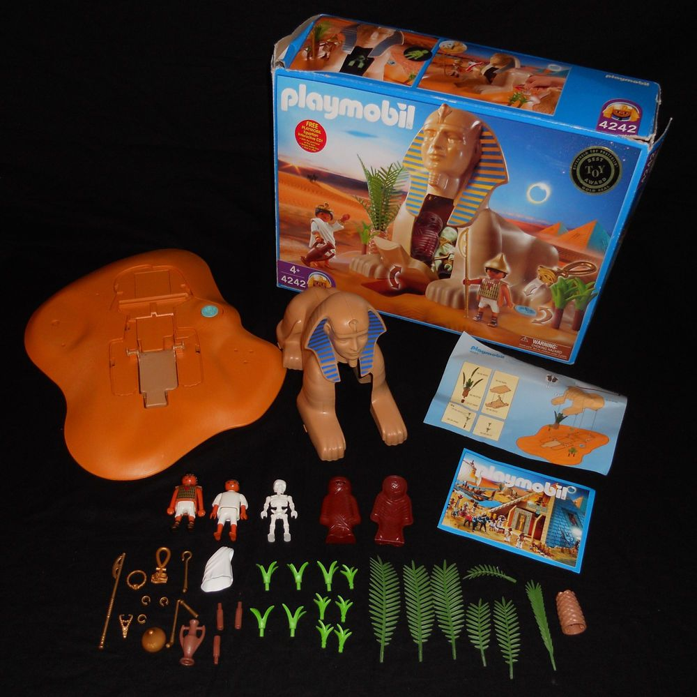 Playmobil 4242 Egyptian Sphinx Mummy Playset 90 Complete With Box Working Parts Playmobil Playset Cool Toys