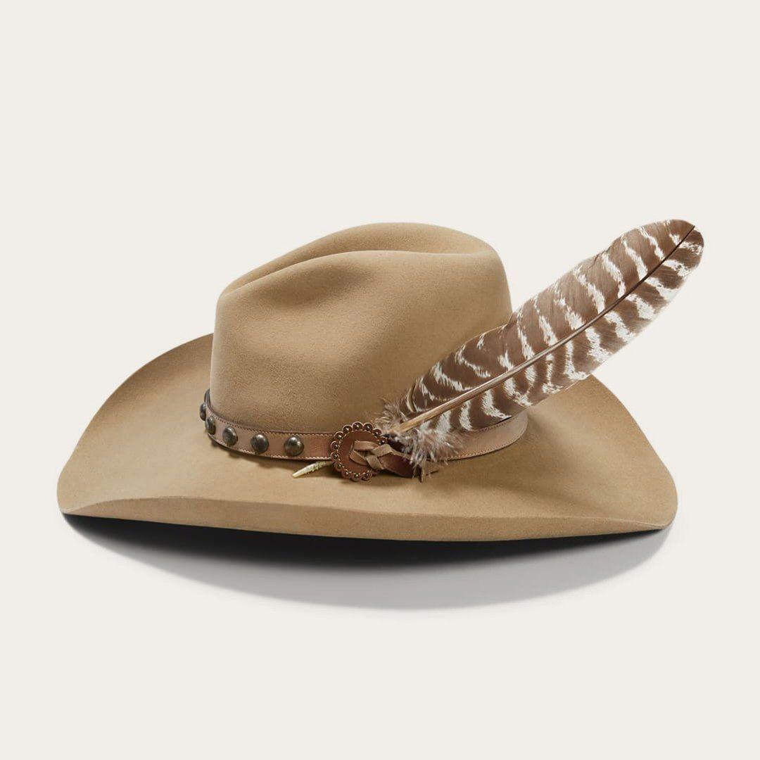 Buck Broken Bow 4x Cowboy Hat Size 7 1 4 By Stetson Cowboy Hats Felt Cowboy Hats Custom Cowboy Hats