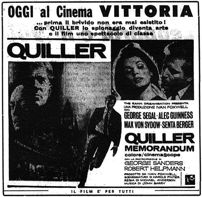 Quiller Memorandum (1966) Max von sydow and Movie - memorandum