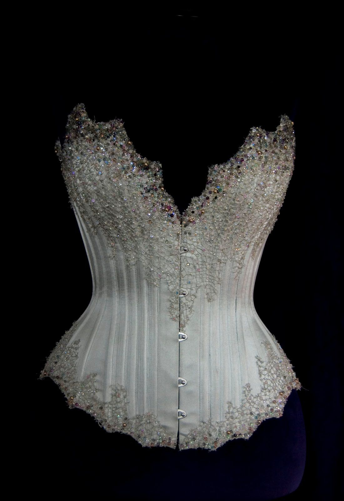 0c107b3897 Silver beaded corset. - don t know what i would do with it but i want it  )