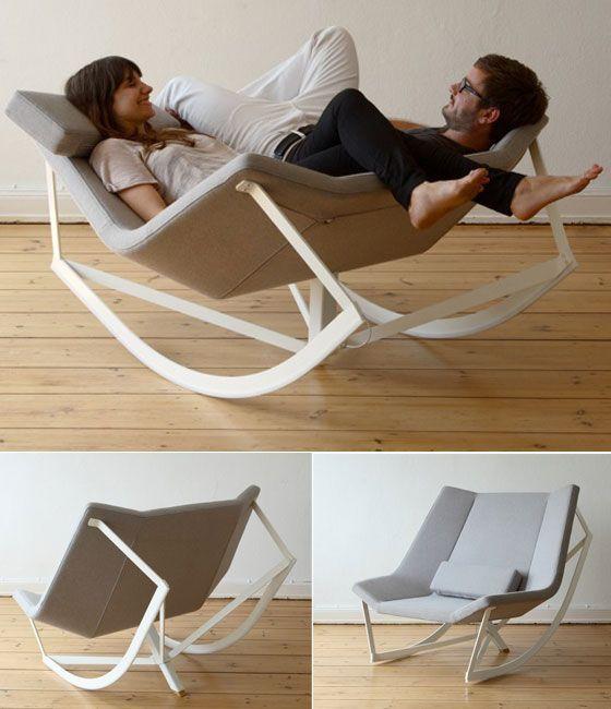 Sedia A Dondolo Inventore.Trasformabile Modello A Dondolo Per Godersi La Compagnia Sedie