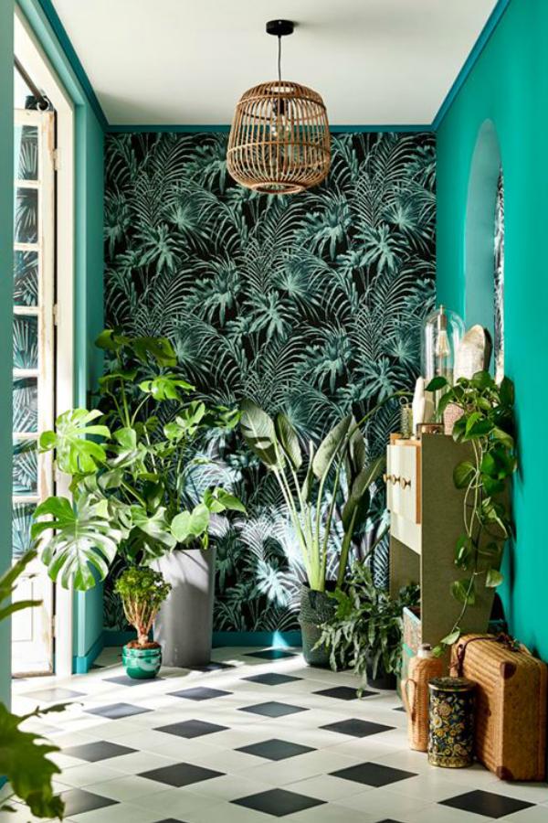 Papier Peint Intisse Feuillage Vert House Plants Decor Green