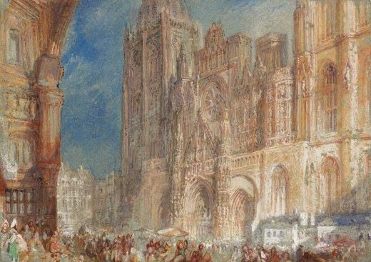 john mallord william turner la cath drale de rouen vers 1832 aquarelle plume et gouache sur. Black Bedroom Furniture Sets. Home Design Ideas