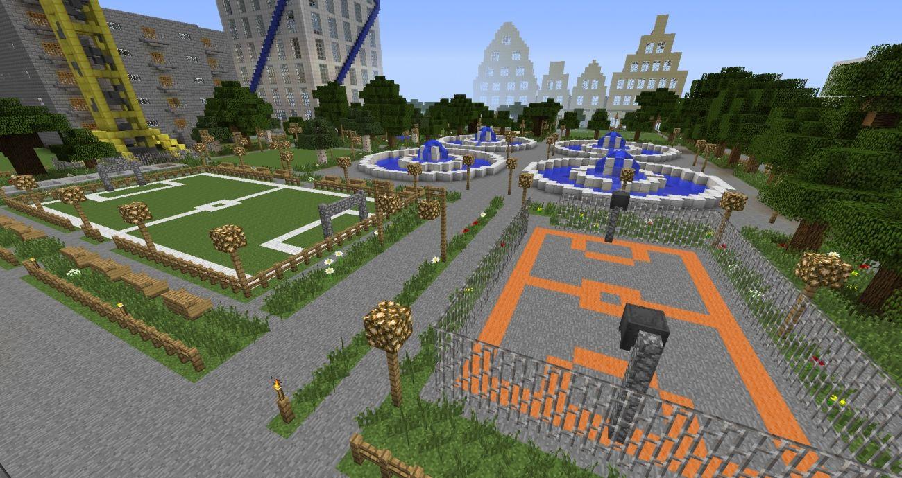 Sportanlage Dekoration Minecraft Bauideen Minecraft Bauen Anlage Minecraft