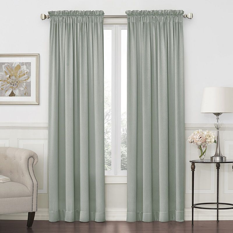 Jcpenney Home Quinn Basketweave Rod Pocket Back Tab Curtain Panel