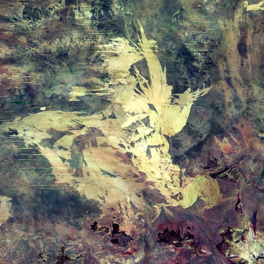 Looking Down at Earth's Artistic Capabilities Satellite