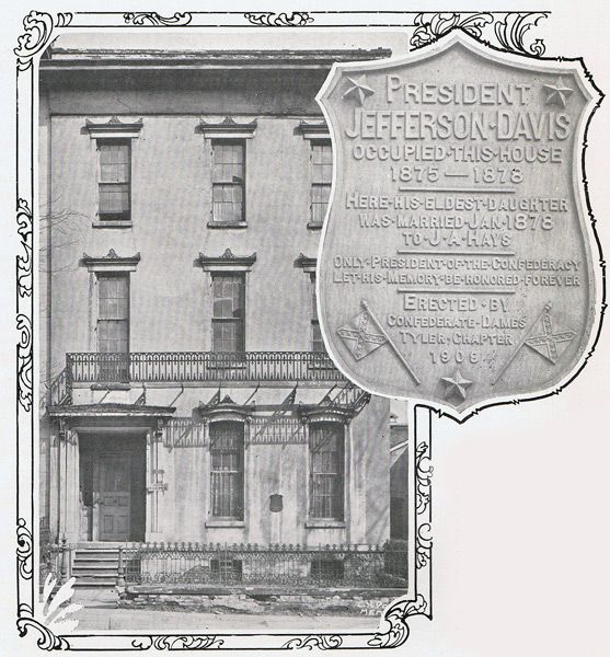 Jefferson Davis Lived In This House At 129 Court Avenue From 1867
