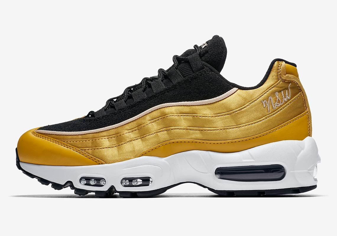 The Nike Air Max 95 Adds Satin Uppers With New Nsw Logo Nike Air