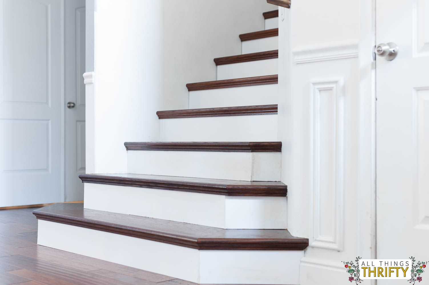 Best New Wooden Stair Treads Reveal…Finally Home Stairs 400 x 300
