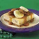 bananas foster cheesecake squares recipe   cake recipes