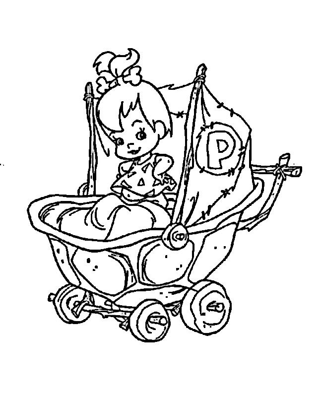 Desenhos para pintar Os Flintstones 39