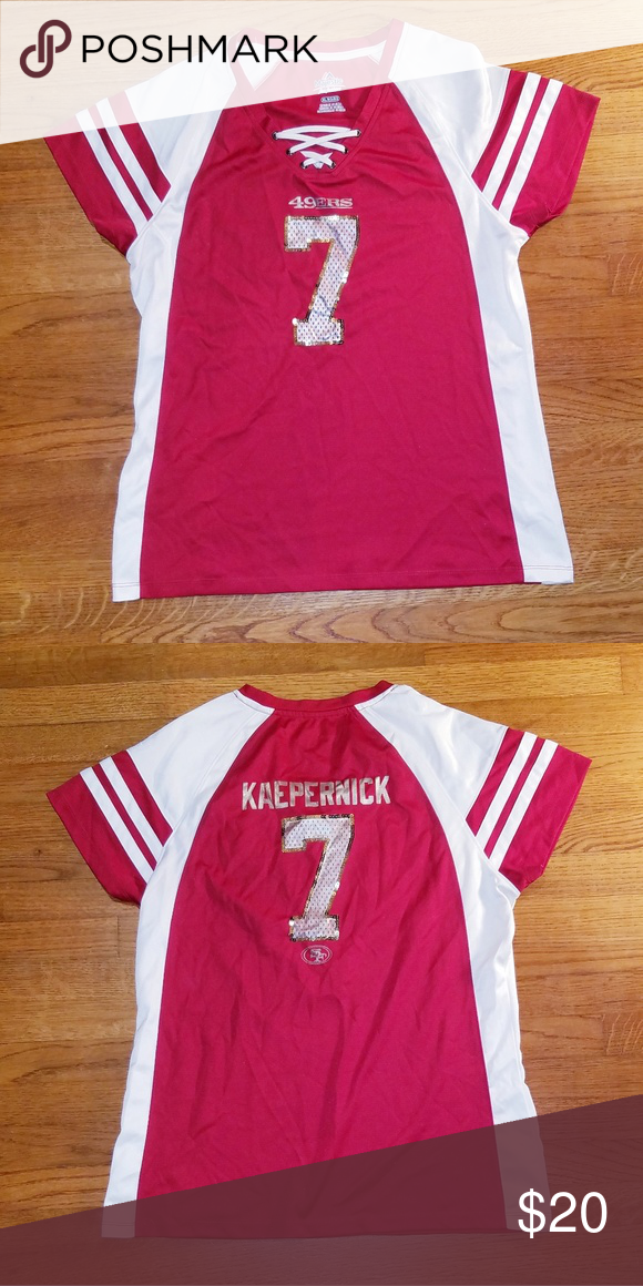 new arrivals d02c4 30318 🏈 49ers Kaepernick #7 Jersey XL 🏈 Cute sequined Jersey of ...