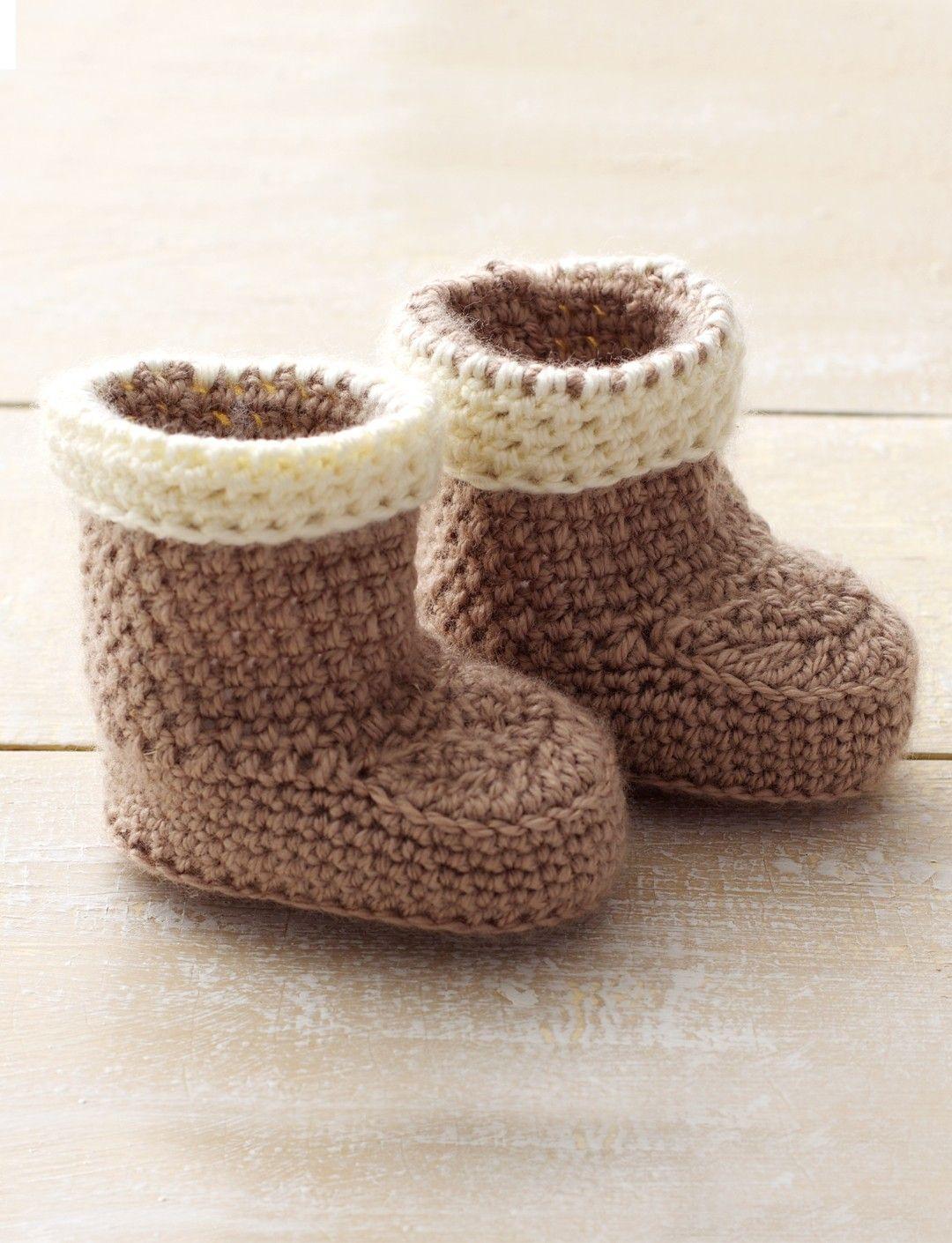 Yarnspirations.com - Bernat Cuffed Boots - Patterns | Yarnspirations ...