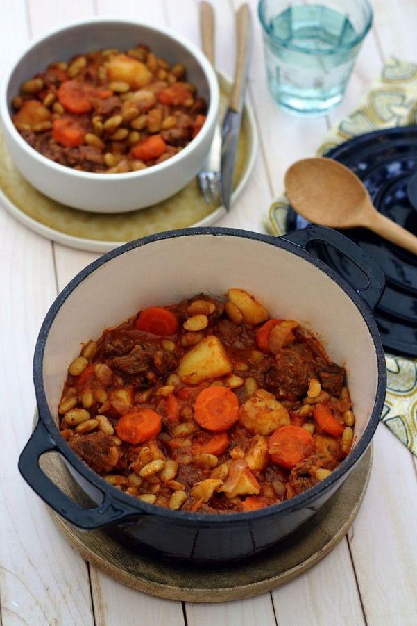 Mijoté de boeuf aux flageolets pommes de terre et carottes