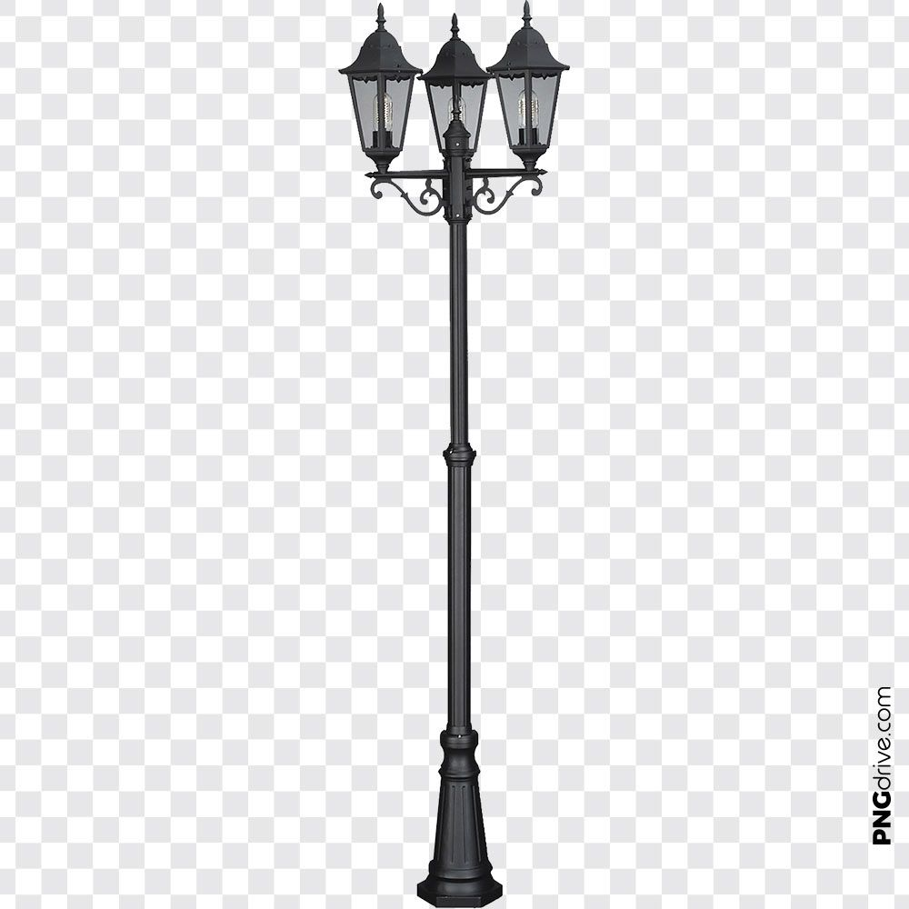 Pin By Png Drive On Street Light Png Street Light Light Three Posts