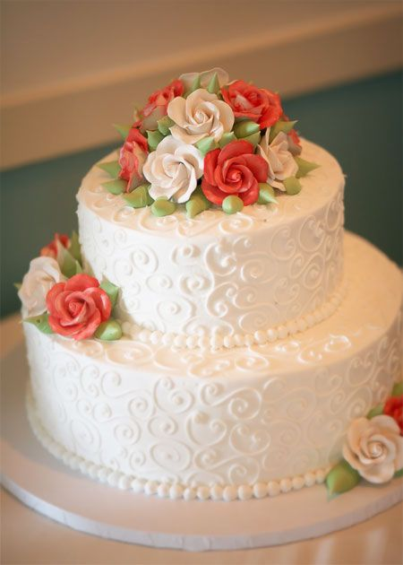 Cheap Wedding Cakes The Wedding Cake Is An Important Part Of The Wedding Reception In Te Orange Wedding Cake Simple Wedding Cake Wedding Cakes With Cupcakes