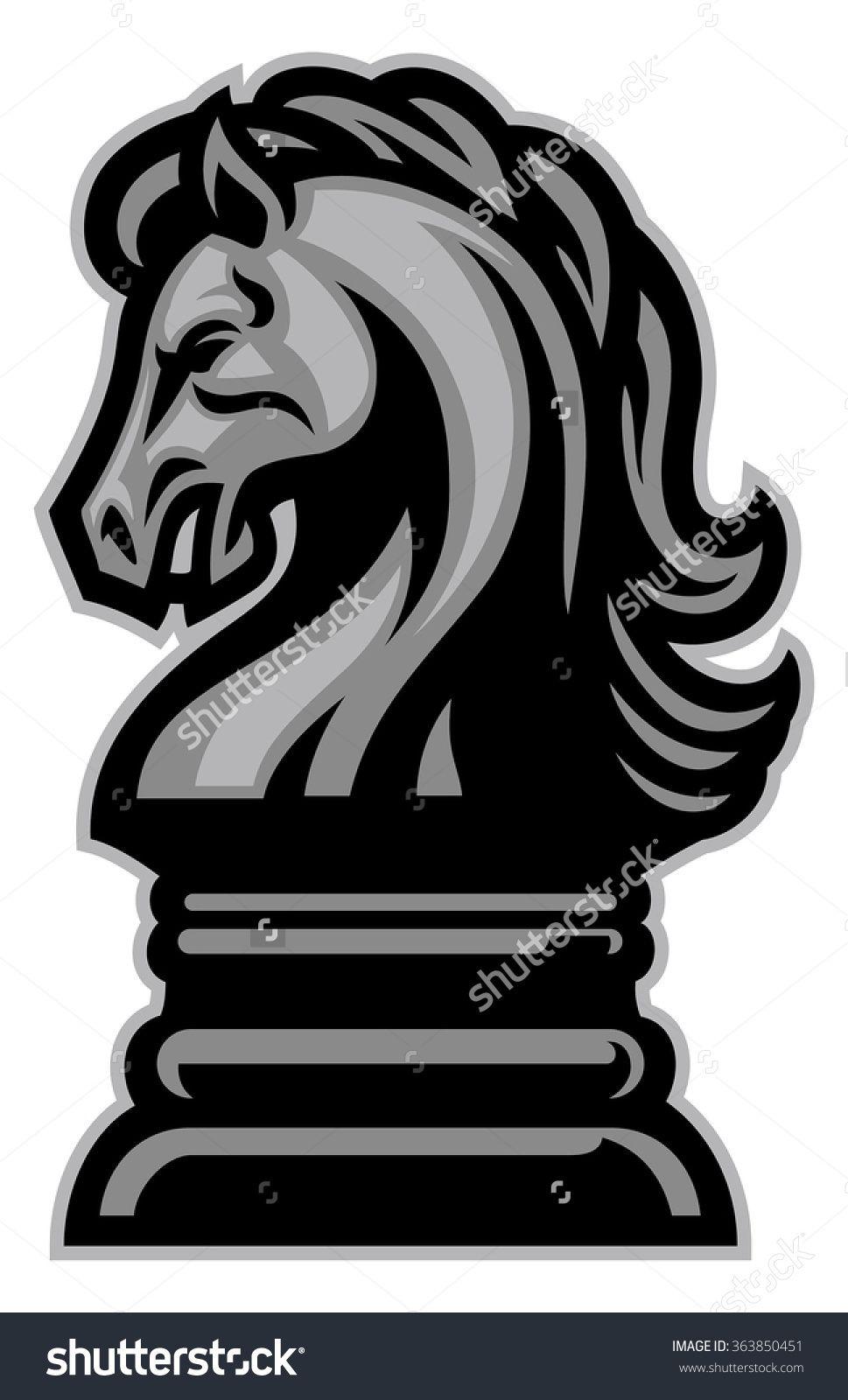Knight Horse Chess Stock Vector Illustration 363850451