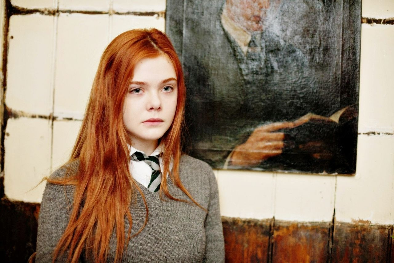 Sweater And Tie Combo Elle Fanning Lily Evans Ginger Hair