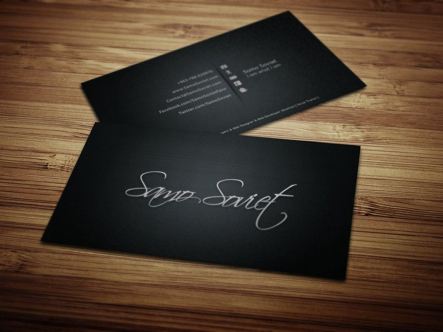 My Personal Business Card Design Printed By SamoSoviet On