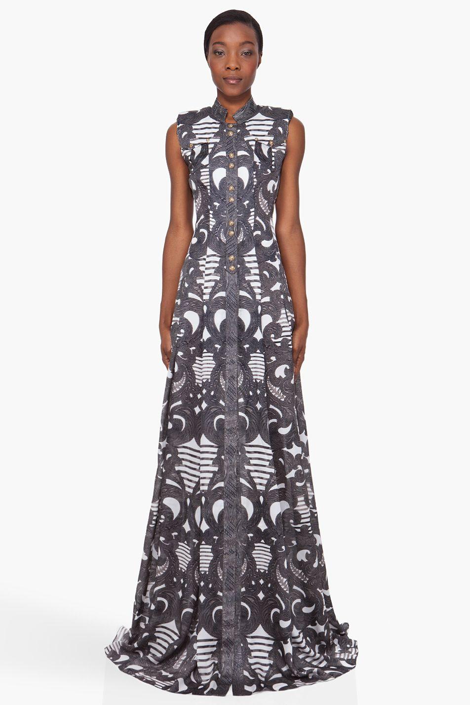 Spiral print silk dress ankara african fashion africa clothing
