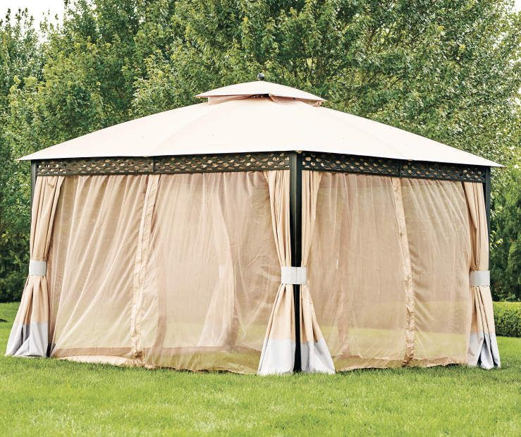 Wilson Fisher Oakmont Domed Gazebo 10 X 12 Big Lots In 2020 Gazebo Easy Gazebo Backyard Gazebo