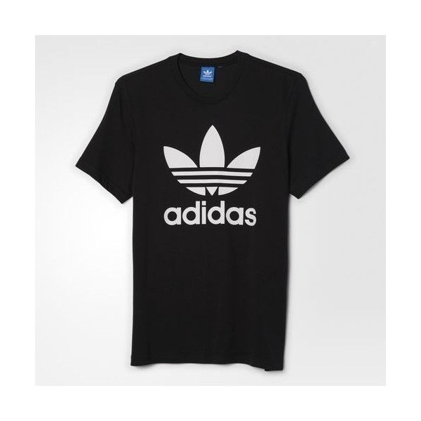 228e5d3ed adidas Trefoil Tee ($28) ❤ liked on Polyvore featuring men's fashion, men's…