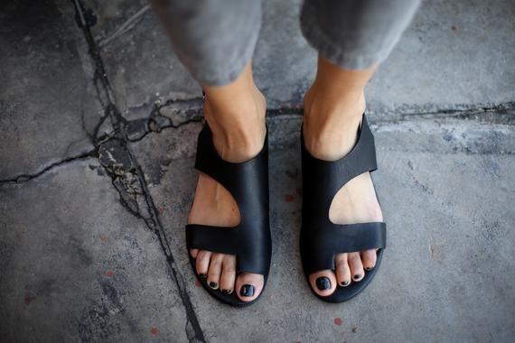 NEW Black Sandals Leather Sandals