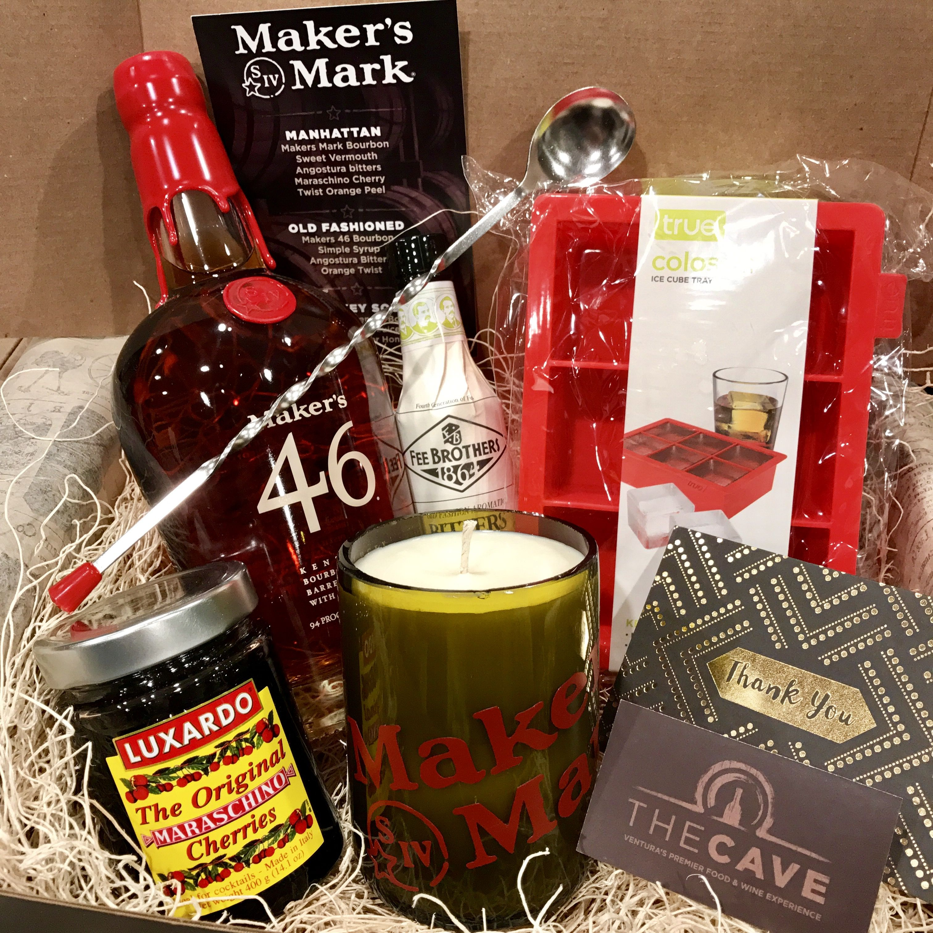 Old Fashioned Cocktail gift box! Makers 46 Bourbon