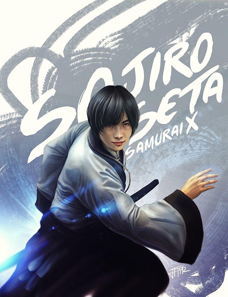 Sojiro Seta Rurouni Kenshin by pbozproduction.deviantart