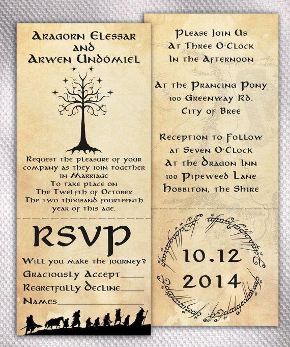 sample lord of the rings wedding invitation set by aprilsanson 200 - Lotr Wedding Ring