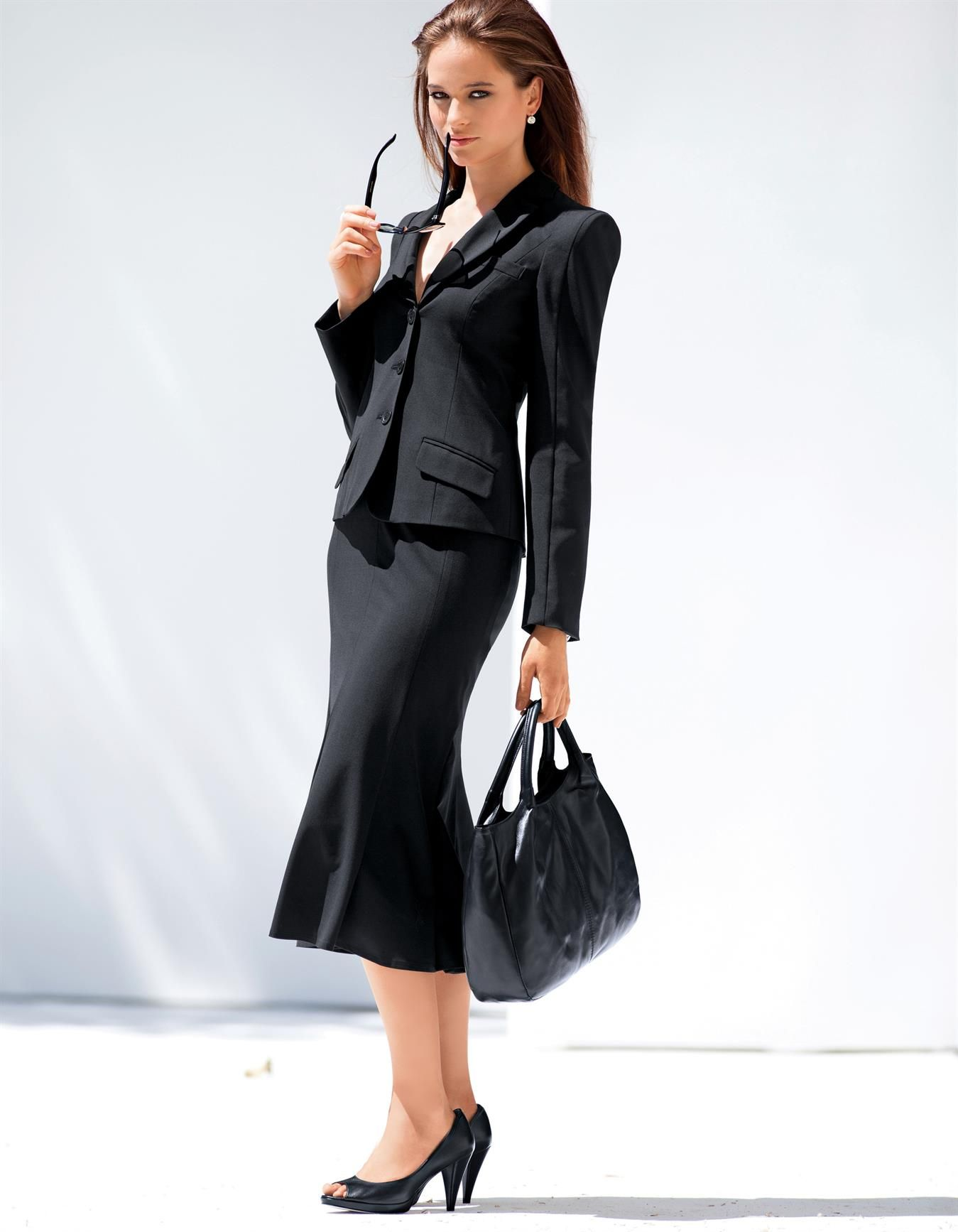 Women's business suits. I could totally see you rocking this 50's look