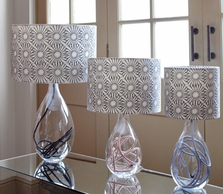 Lamps: Glass Bottom Table Lamps Glass Shade Table Lamps Contemporary Glass  Table Lamps Clear Glass