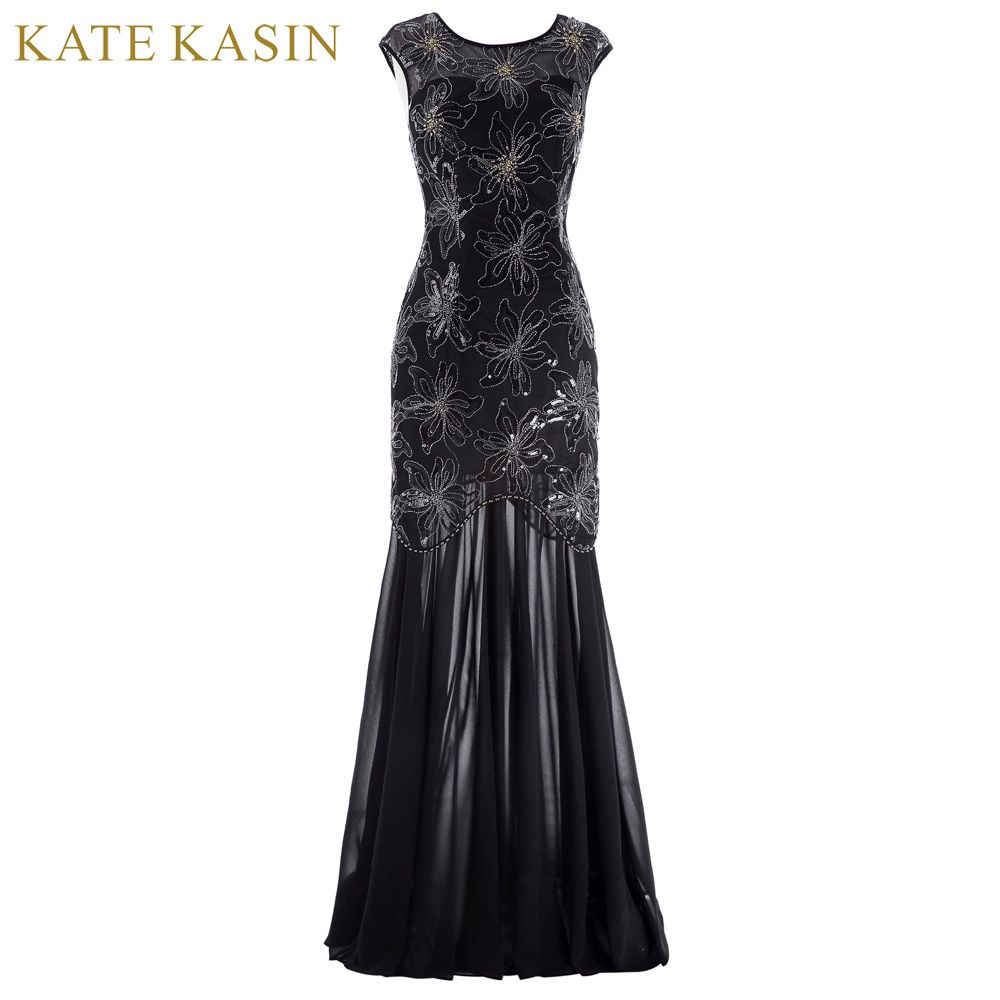 Kate kasin cap sleeve evening dress sequins mother of the bride
